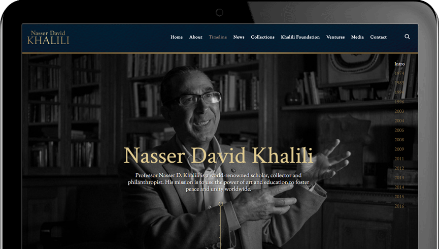 Nasser D Khalili Website | Nocturnal Cloud | Digital Creative Agency